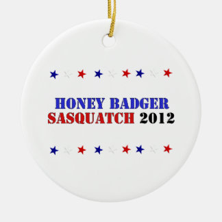 BADGER/SQUATCH TICKET CERAMIC ORNAMENT