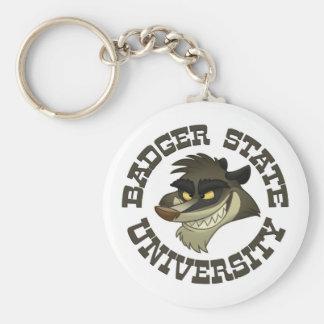 """Badger State University"" Keychain"