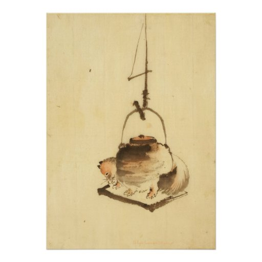 Badger Tea Kettle Poster