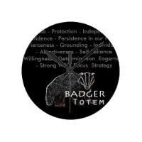 Badger Totem Wall Clock