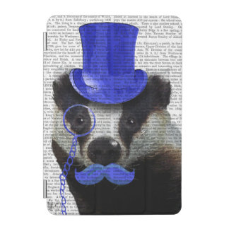 Badger with Blue Top Hat and Moustache iPad Mini Cover