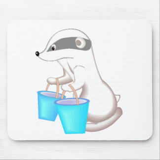 Badger With Buckets Mouse Pad