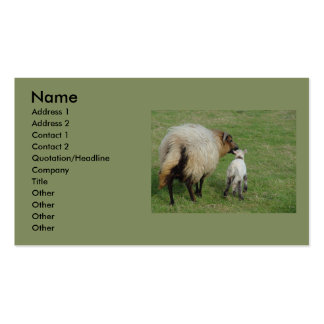Badgerface Ewe with lamb Business Card