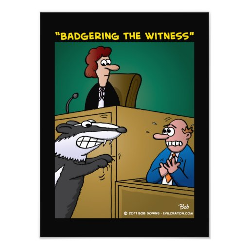 """""""Badgering The Witness"""" Photograph"""