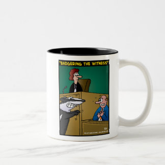 """Badgering The Witness"" Two-Tone Coffee Mug"