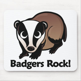Badgers Rock! Mouse Pad