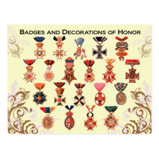 Badges and Decorations of Honor Postcard