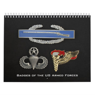 Badges of the US Armed Forces Calendar