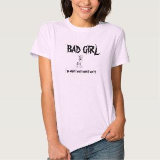 BadGirl no wimps allowed T-shirt