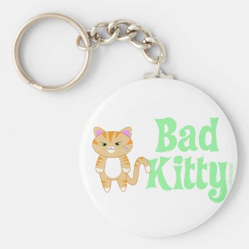 badkitty basic round button keychain