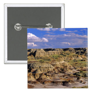 Badlands at Dinosaur Provincial Park in Alberta, 2 Pinback Button