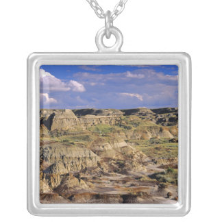 Badlands at Dinosaur Provincial Park in Alberta, 2 Silver Plated Necklace