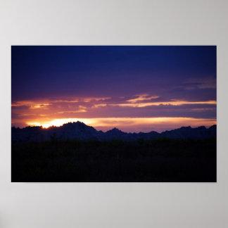 Badlands colorfully sky # 44569 poster