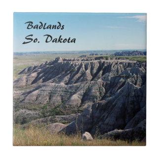 Badlands, Dakota del Sur Azulejo Cuadrado Pequeño