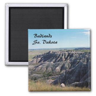 Badlands, Dakota del Sur Imán Cuadrado