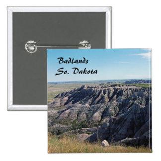 Badlands, Dakota del Sur Pin Cuadrada 5 Cm