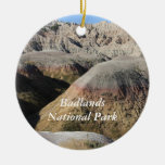 Badlands Double-Sided Ceramic Round Christmas Ornament