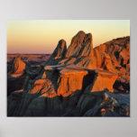 Badlands en el parque nacional de Theodore Rooseve Posters