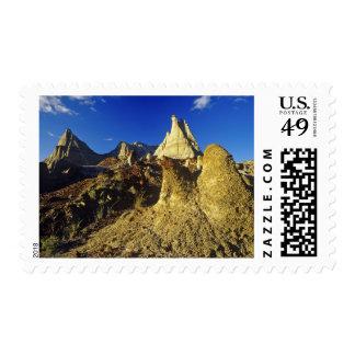 Badlands formations at Dinosaur Provincial Park 2 Postage