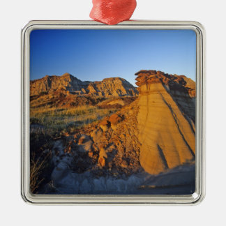 Badlands formations at Dinosaur Provincial Park 3 Metal Ornament