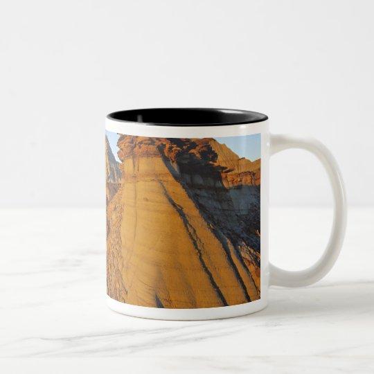 Badlands formations at Dinosaur Provincial Park 3 Two-Tone Coffee Mug