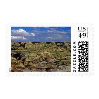 Badlands formations at Dinosaur Provincial Park 4 Postage