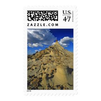 Badlands formations at Dinosaur Provincial Park 5 Postage Stamp