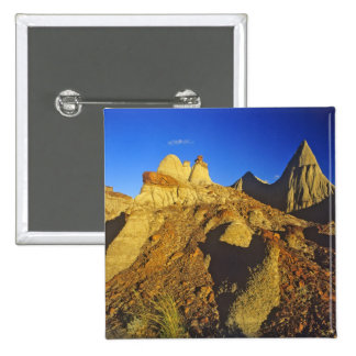 Badlands formations at Dinosaur Provincial Park 6 2 Inch Square Button