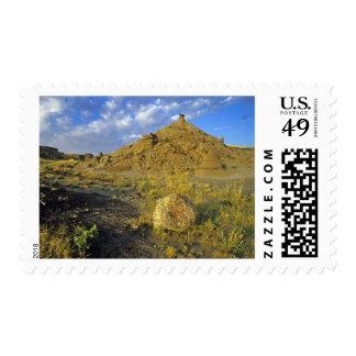 Badlands formations at Dinosaur Provincial Park Postage Stamp