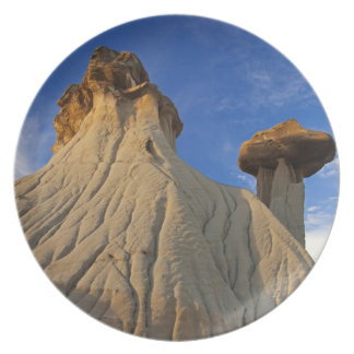 Badlands formations at Makoshika State Park in Dinner Plate