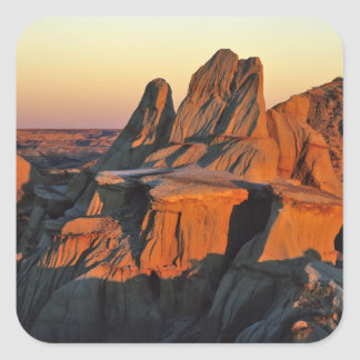 Badlands in Theodore Roosevelt National Park Square Sticker
