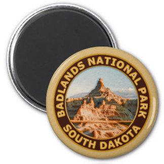 Badlands National Park 2 Inch Round Magnet