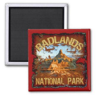 Badlands National Park 2 Inch Square Magnet