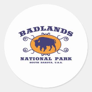 Badlands National Park Buffalo Classic Round Sticker