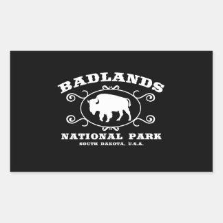 Badlands National Park Buffalo Rectangular Sticker