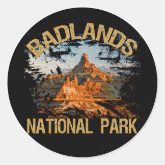 Badlands National Park Classic Round Sticker