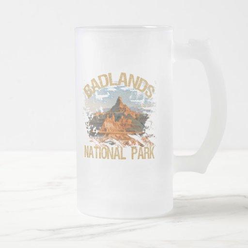 Badlands National Park Frosted Glass Beer Mug