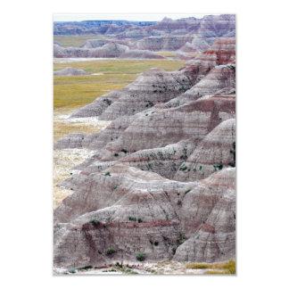 Badlands national park mountains from afar card