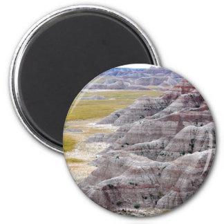 Badlands national park mountains from afar magnet