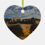 Badlands National Park Double-Sided Heart Ceramic Christmas Ornament