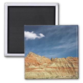 Badlands national park sandy color blue sky magnet