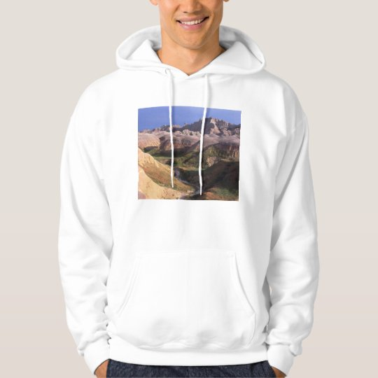 Badlands national park scenery view from afar hoodie