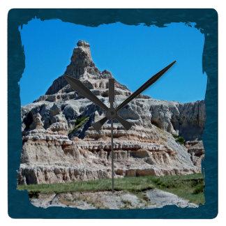 Badlands National Park, South Dakota Square Wall Clock