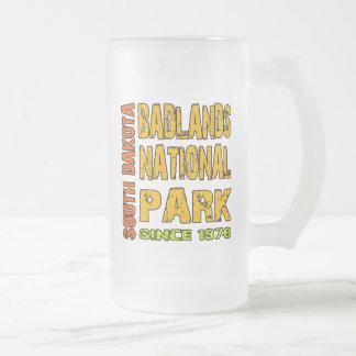 Badlands National Park, South Dakota Frosted Glass Beer Mug