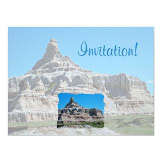 "Badlands National Park, South Dakota 6.5"" X 8.75"" Invitation Card"