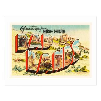 Badlands North Dakota ND Vintage Travel Souvenir Postcard