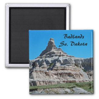 Badlands parque nacional, Dakota del Sur Imán Cuadrado