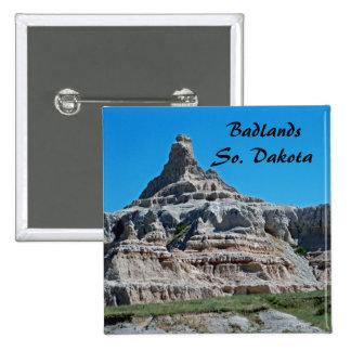Badlands parque nacional, Dakota del Sur Pin Cuadrado