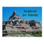 Badlands parque nacional, Dakota del Sur Tarjeta Postal