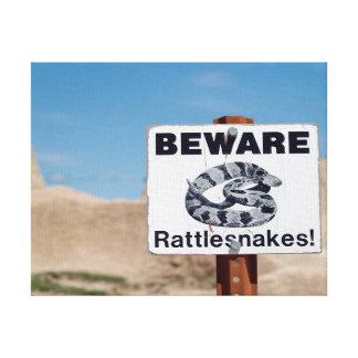 Badlands Rattlesnakes Canvas Print